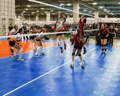 Un torneo de voleibol en SnapSports 50-50