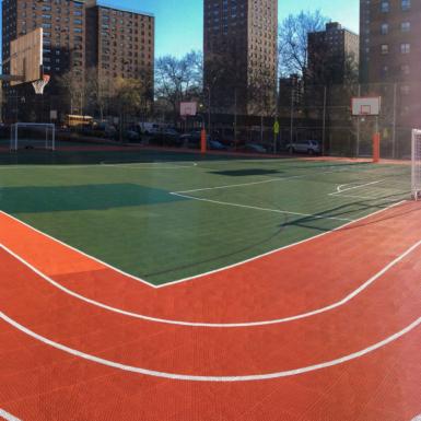 Cancha al aire libre a una escuela en New York