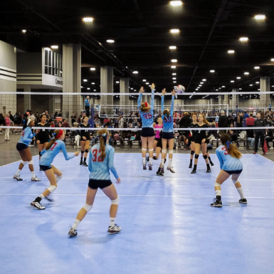 Canchas en la competencia de voleibol Big South