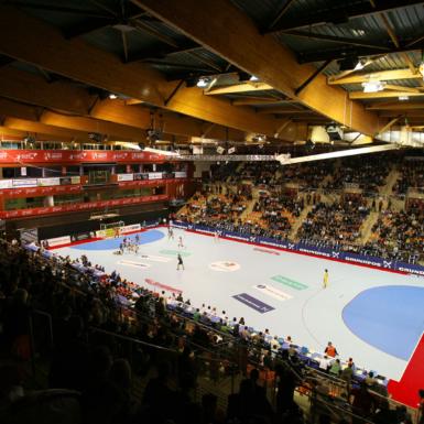 Cancha de handball comercial