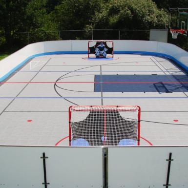 Cancha de hockey del patio trasero