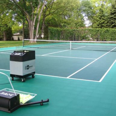 Cancha de tenis perennes
