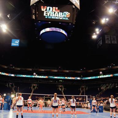 SnapSports en el festival de voleibol