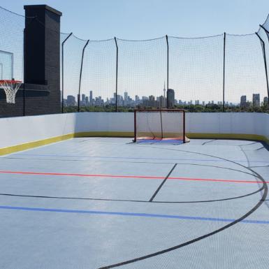 Piso de hockey y deportes múltiples al aire libre