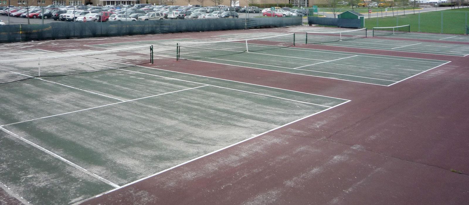 Cancha de tenis, antes