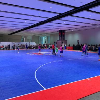United States Futsal Federation cancha azul y rojo