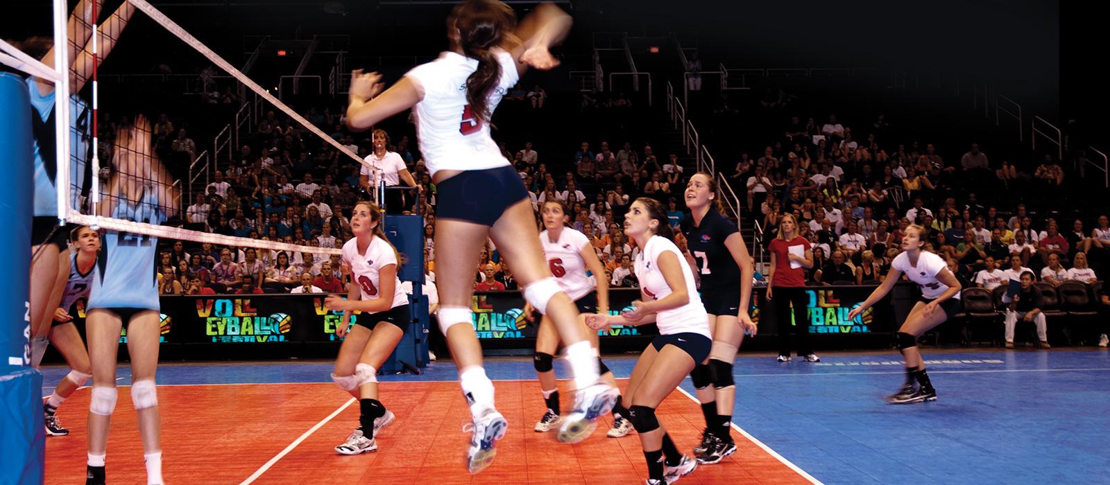 Canchas de voleibol en un torneo